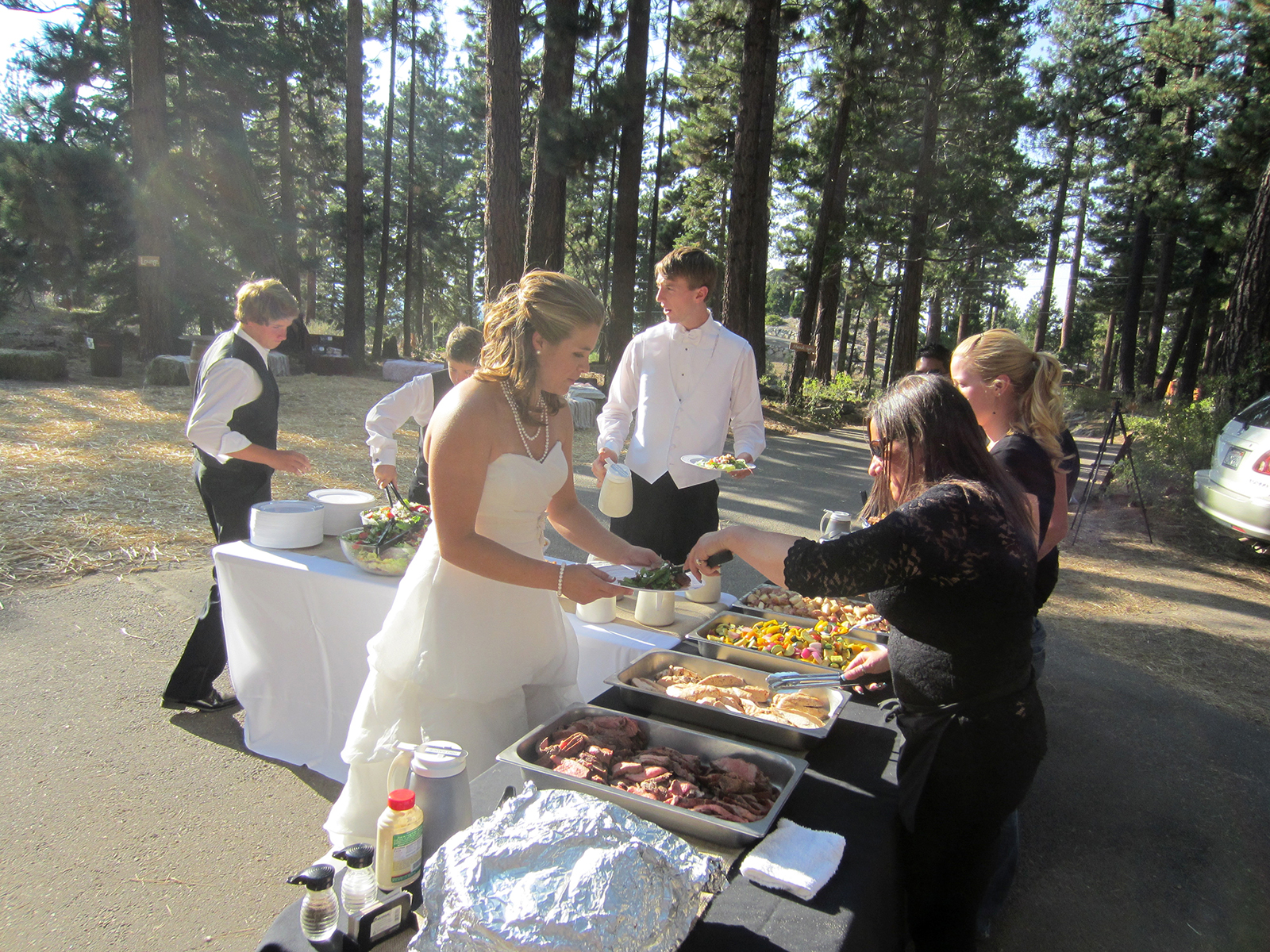 BBQ Catering At A Beautiful Tahoe Wedding